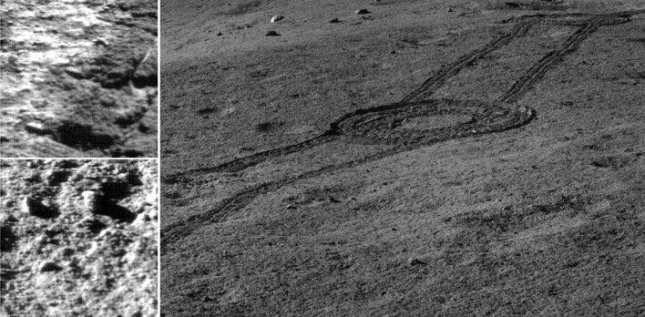 창어 4호가 포착한 착륙지 주변의 풍경 사진. 출처: NAOC/CNSA